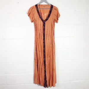 Soft Surroundings tie dyed dress Sz  S full button